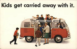 Kids Get Carried Away With It - VW Bus advertisement.