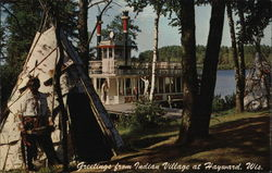The  Namekagon Queen Steamboat - Indian Village, Historyland