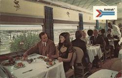 Dining Car On Amtrak Passenger Train