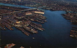 Aerial View of Boston Harbor