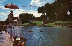 Barton Springs Swimming Pool Postcard