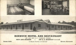 Roebuck Motel and Restaurant Postcard