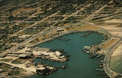 Aerial View of the Beautiful Boat Basin Postcard