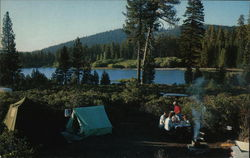 Manzanita Lake Campground Postcard