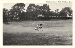 Player and Caddie, Highland Country Club