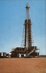 Oklahoma's Deepest Oil Well Postcard