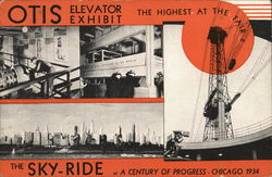 Otis Elevator Exhibit Postcard