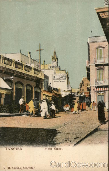 Main Street Tangier Morocco Africa
