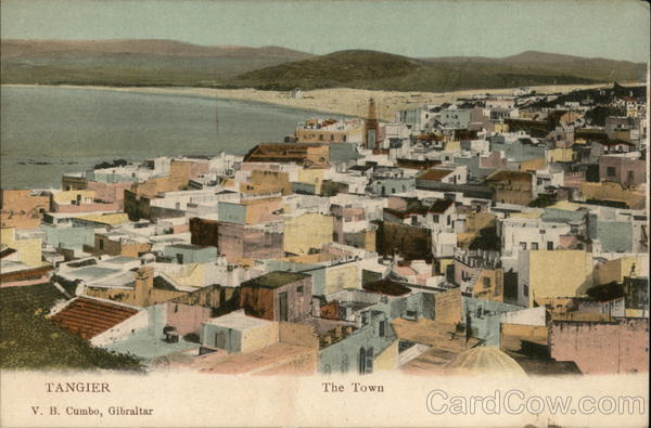 View of Town Tangier Morocco Africa