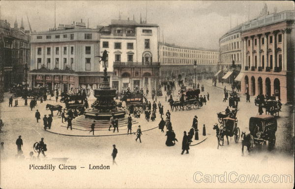 View of Piccadilly Circus London England