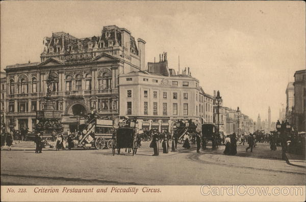Criterion Restaurant and Piccadilly Circus London England