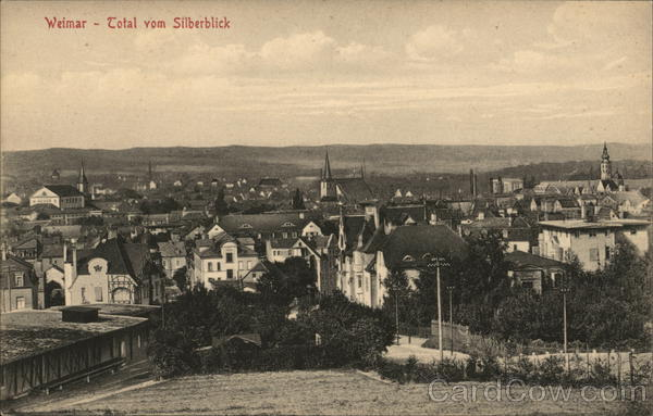 View from Silberblick Weimar Germany