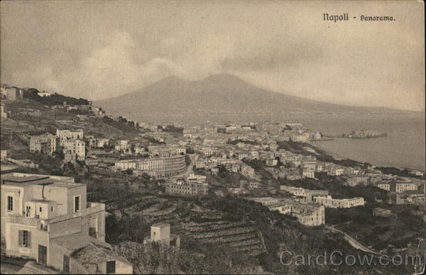 Panoramic View of City Naples Italy