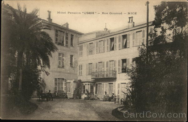 Hotel Pension L'Oasis - Rue Gounod Nice France