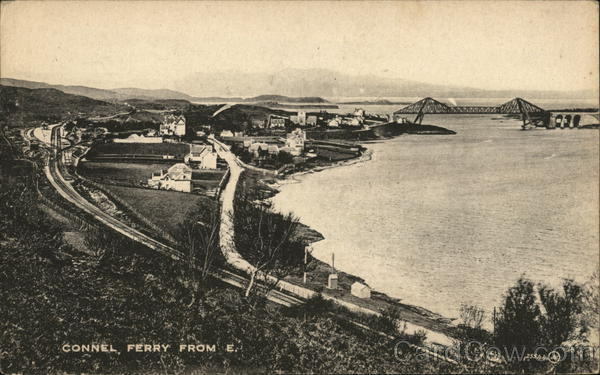 Ferry and Town From East Connel Scotland