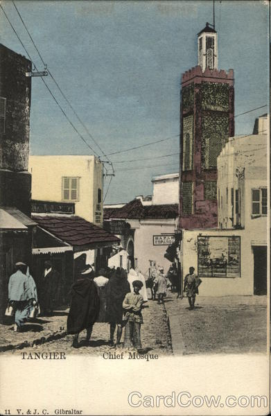 View of Chief Mosque Tangier Morocco Africa