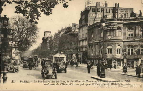 Boulevard des Italiens Paris France