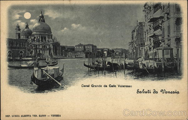 Grand Canal and Calle Valaresso Venice Italy
