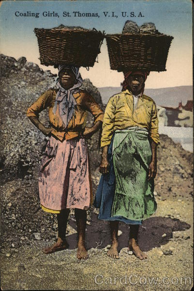 Coaling Girls St. Thomas U.S. Virgin Islands Caribbean Islands