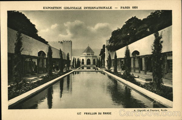 Pavillon du Maroc Paris France 1931 Paris Colonial Exposition