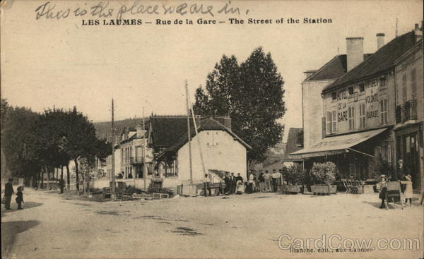 Rue de la Gare - the Street of the Station Les Laumes France
