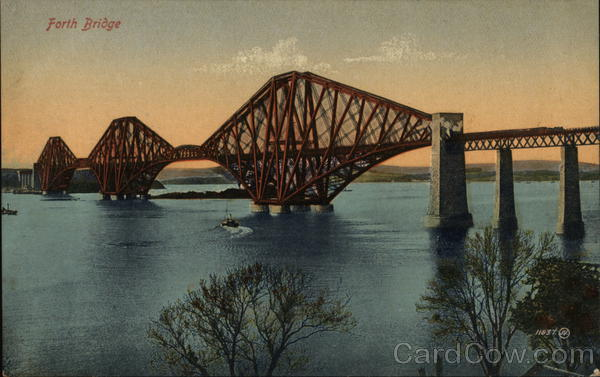 View of Forth Bridge Edinburgh Scotland