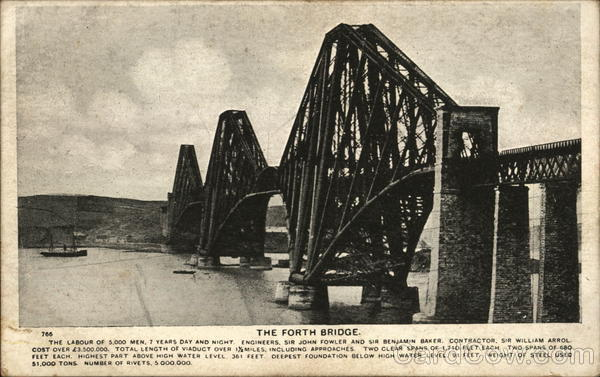 The Forth Bridge Edinburgh Scotland