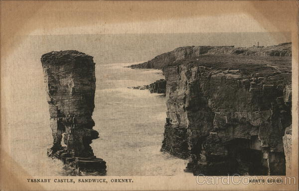 View of Yesnaby Castle, Orkney Sandwick Scotland