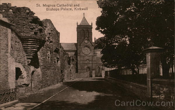 St Magnus Cathedral and Bishops Palace, Kirkwall Scotland