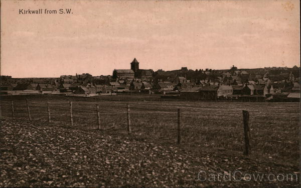 View of Town from S.W. Kirkwall Scotland