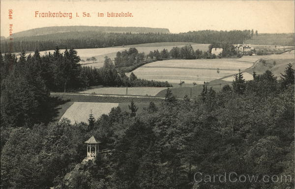 View of Frankenberg Fields Germany