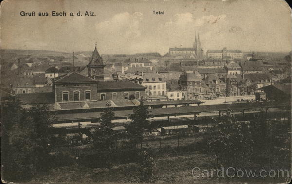 View of Town Esch-sur-Alzette Luxembourg