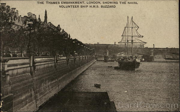 View of Thames Embankment London England