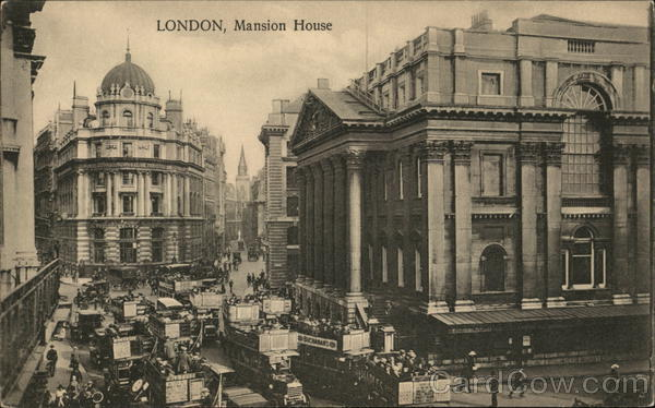 View of Mansion House London England