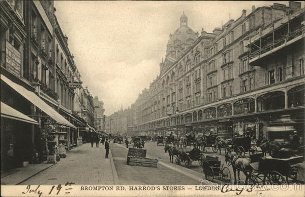 Brompton Rd. Harrod's Stores London England