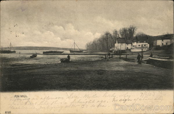 View of Village Pin Mill England