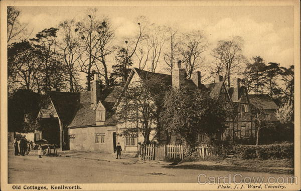 View of Old Cottages Kenilworth England