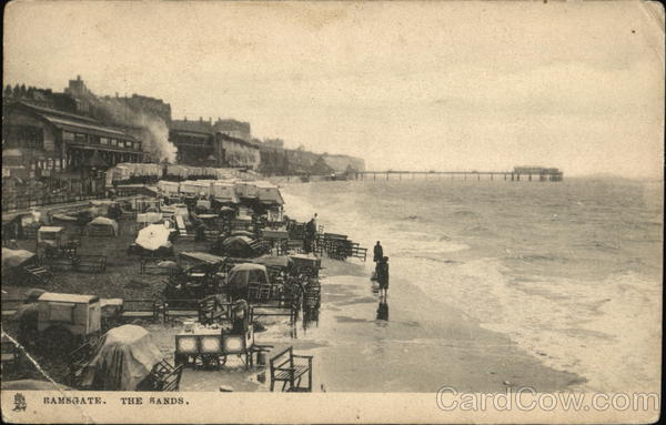 Looking Along the Sands Ramsgate England Kent