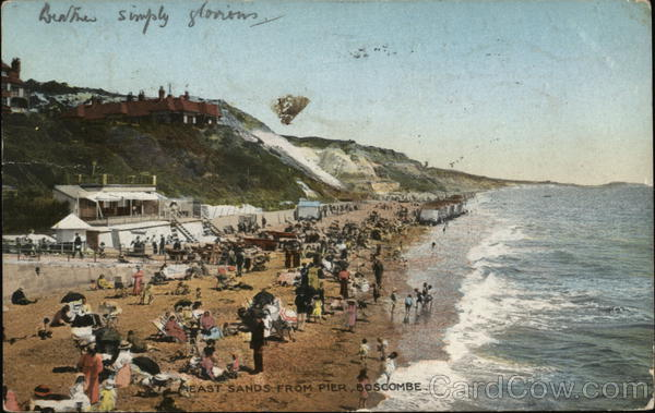 East Sands from Pier Boscombe England Dorset