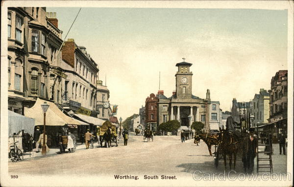 View of South Street Worthing England Sussex