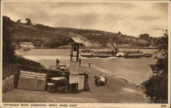 Dittesham from Greenway Ferry, River Dart England