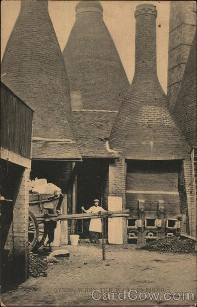 Ovens When the Ware is Fired Burslem England