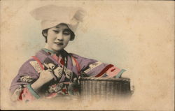 Japanese Girl with Basket