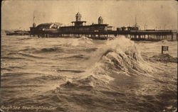 Rough Sea Around Pier