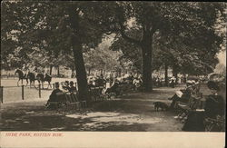 Hyde Park, Rotten Row Postcard