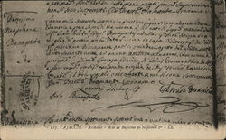 Baptism Record of Napoleon Boneparte