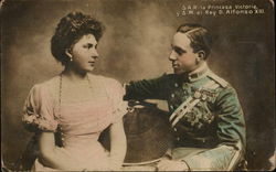 King Alfonso XIII and Princess Victoria