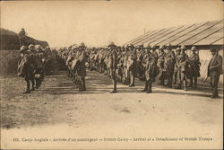 British Camp - Arrival of a Detachment of British Troops