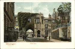 View of West Gate Postcard