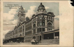 Central Station, Flinders Street Entrance Postcard